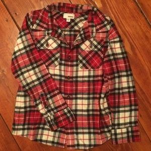 7dfa8215f9383 Sonoma Shirts   Tops - 🐝Sonoma (7X) red plaid flannel shirt